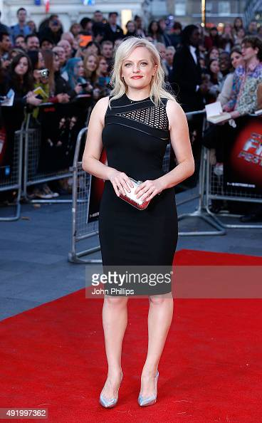 Elisabeth Moss attends the HighRise Screening during the BFI London Film Festival at Odeon Leicester Square on October 9 2015 in London England