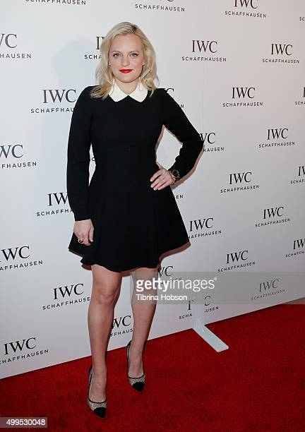 Elisabeth Moss attends the IWC Schaffhausen Rodeo Drive grand opening at IWC Shaffhausen on December 1 2015 in Beverly Hills California