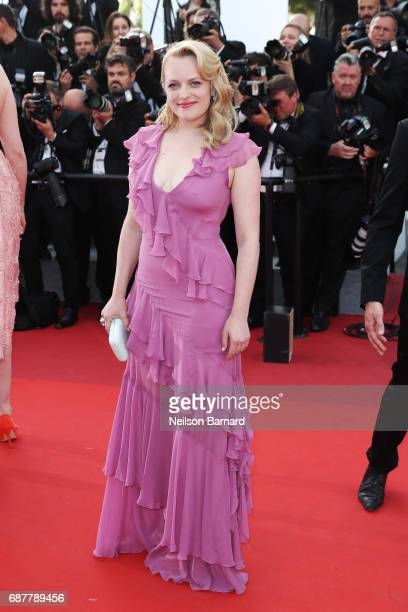 Elisabeth Moss attends the 'The Beguiled' screening during the 70th annual Cannes Film Festival at Palais des Festivals on May 24 2017 in Cannes...