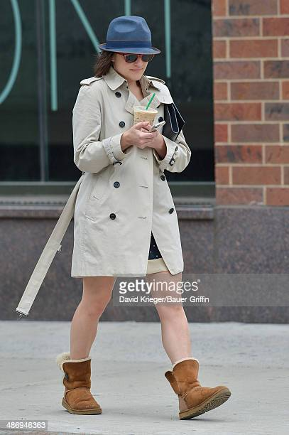 Elisabeth Moss is seen on April 26 2014 in New York City