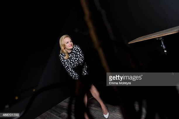 Elisabeth Moss of 'High Rise' poses for a portrait with Jeff Vespa in the Guess Portrait Studio at the Toronto International Film Festival on...