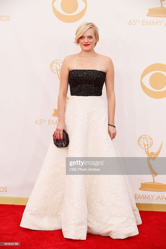 <a gi-track='captionPersonalityLinkClicked' href=/galleries/search?phrase=Elisabeth+Moss&family=editorial&specificpeople=3079265 ng-click='$event.stopPropagation()'>Elisabeth Moss</a> on the Red Carpet for the 65th Primetime Emmy Awards, which will be broadcast live across the country 8:00-11:00 PM ET/ 5:00-8:00 PM PT from NOKIA Theater L.A. LIVE in Los Angeles, Calif., on Sunday, Sept. 22 on the CBS Television Network.