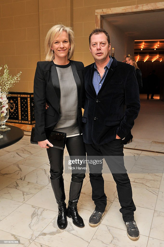 Elisabeth Murdoch and <a gi-track='captionPersonalityLinkClicked' href=/galleries/search?phrase=Matthew+Freud&family=editorial&specificpeople=240282 ng-click='$event.stopPropagation()'>Matthew Freud</a> attend the L'Wren Scott cocktail party during London Fashion Week Fall/Winter 2013/14 at on February 17, 2013 in London, England.