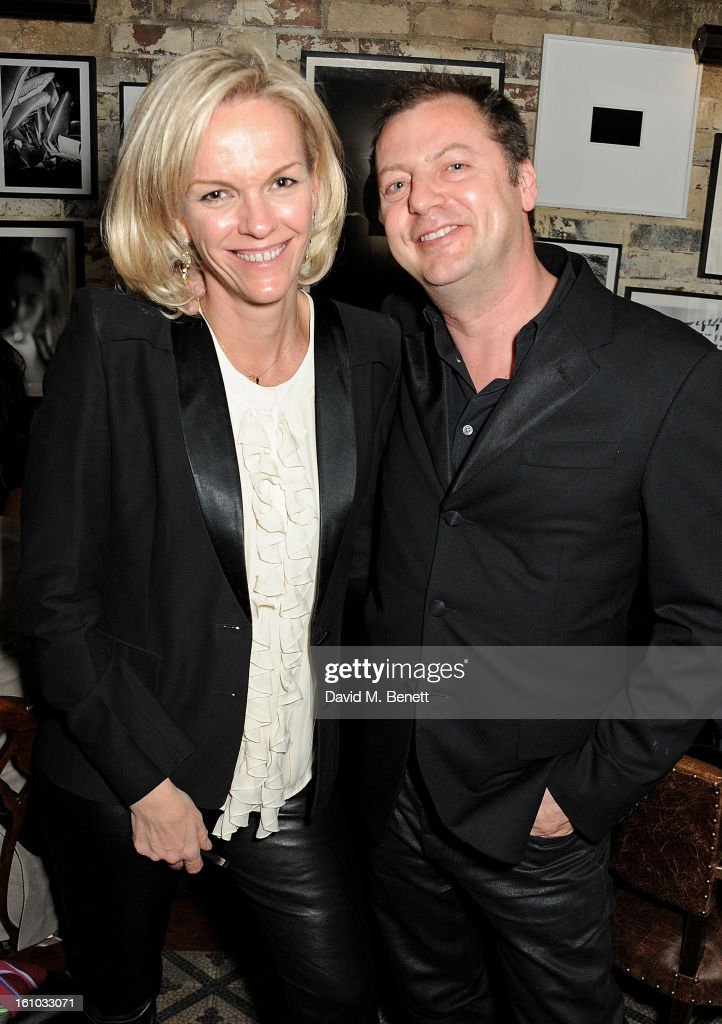 Elisabeth Murdoch (L) and <a gi-track='captionPersonalityLinkClicked' href=/galleries/search?phrase=Matthew+Freud&family=editorial&specificpeople=240282 ng-click='$event.stopPropagation()'>Matthew Freud</a> attend the 'Silver Linings Playbook' Grey Goose Dinner hosted by Harvey Weinstein and Stephen Fry at Little House on February 8, 2013 in London, England.