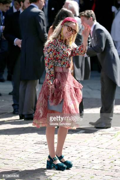 Elisabeth of Thurn and Taxis during the wedding of Prince Ernst August of Hanover jr Duke of BrunswickLueneburg and his fiancee Ekaterina Malysheva...