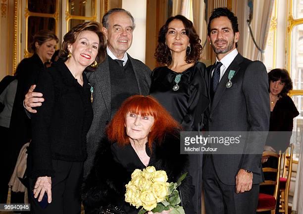 Elisabeth Ponsolle des Portes who was awarded the 'Officer de l'Ordre des Arts et Lettres' and Fashion designers Marc Jacobs and Nathalie Rykiel who...