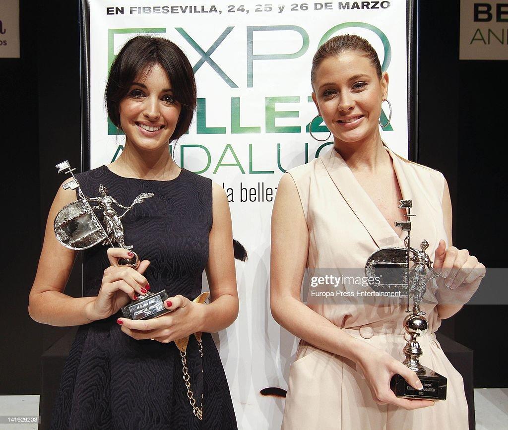 Elisabeth Reyes and Noelia Lopez Attend 'Expobelleza Andalucia 2012'