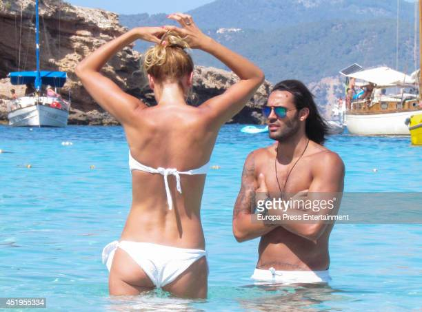 Elisabeth Reyes And Sergio Sanchez are seen on July 1 2014 in Ibiza Spain