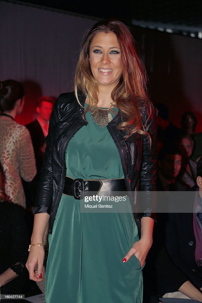 Elisabeth Reyes attends the Javier Simorra fashion show as part of the 080 Barcelona Fashion Week Autumn/Winter 2013-2014 on January 31, 2013 in Barcelona, Spain.
