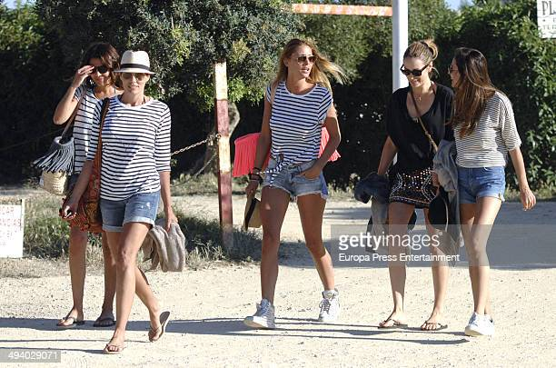 Elisabeth Reyes Maria Jose Suarez and Raquel Rodriguez are seen celebrating Elisabeth Reyes's hen party on May 26 2014 in Marbella Spain