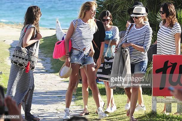 Elisabeth Reyes Maria Jose Suarez Raquel Rodriguez and Eva Gonzalez are seen celebrating Elisabeth Reyes's hen party on May 26 2014 in Marbella Spain