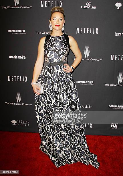 Elisabeth Rhm arrives at The Weinstein Company and NetFlix 2014 Golden Globe Awards after party held on January 12 2014 in Beverly Hills California