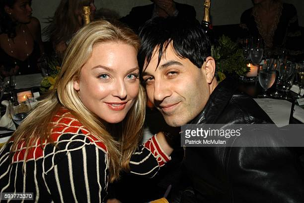 Elisabeth Rohm and Jason Weinberg attend Elisabeth Rohm and 7th on Sixth host Hurricane Relief Benefit on occasion of artist Hunt Slonem's new...