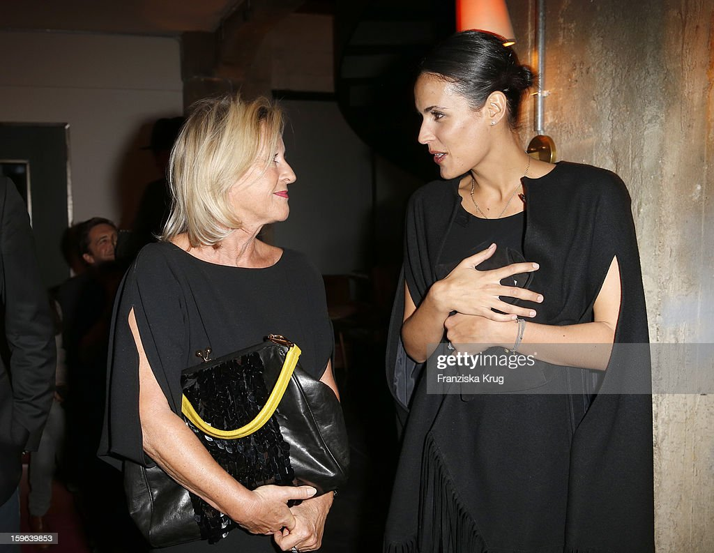Elisabeth Schwaiger (L) and Maria Dolores Dieguez attend the 'Laurel After Show Party - Mercedes-Benz Fashion Week Autumn/Winter 2013/14' at Soho House on January 17, 2013 in Berlin, Germany.