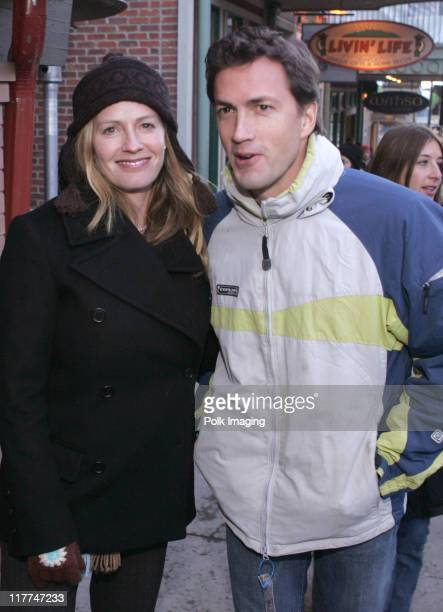 Elisabeth Shue and Andrew Shue outside of Premiere Film Music Lounge