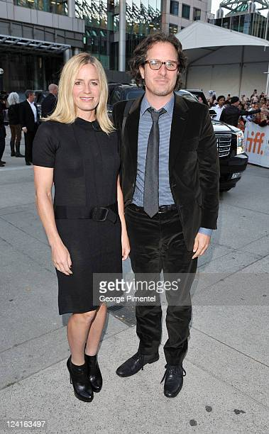 Elisabeth Shue and Davis Guggenheim arrive at 'From The Sky Down' Premiere at Roy Thomson Hall during the 2011 Toronto International Film Festival on...