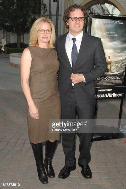 Elisabeth Shue and Davis Guggenhiem attend Waiting For 'Superman' Premiere at Paramount Theatre on September 20 2010 in Hollywood California