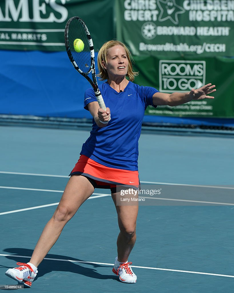 <a gi-track='captionPersonalityLinkClicked' href=/galleries/search?phrase=Elisabeth+Shue&family=editorial&specificpeople=216625 ng-click='$event.stopPropagation()'>Elisabeth Shue</a> participates in 23rd Annual Chris Evert/Raymond James Pro-Celebrity Tennis Classic at Delray Beach Tennis Center on October 27, 2012 in Delray Beach, Florida.