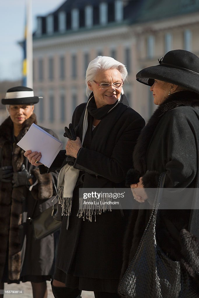 Elisabeth Tarras-Wahlberg attends the funeral of Princess Lilian Of Sweden on March 16, 2013 in Stockholm, Sweden.