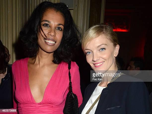 Elisabeth Tchoungui and Maya Lauque attend the 'Les Gerard De La Television 2014' Award Ceremony At La Cigale and After Party at Le Carmen In Paris...