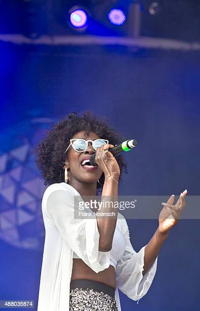 Elisabeth Troy of Clean Bandit performs live on stage during the second day of the Lollapalooza Berlin music festival at Tempelhof Airport on...