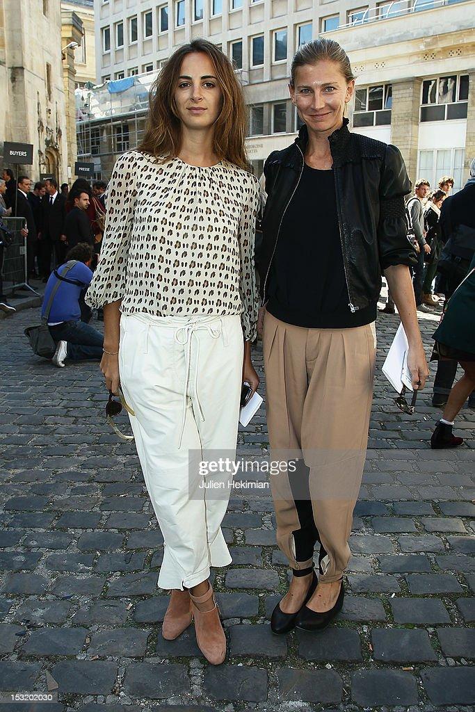 Elisabeth Von Guttman (R) and Alexia Niedzelski attend the Giambattista Valli Spring / Summer 2013 show as part of Paris Fashion Week on October 1, 2012 in Paris, France.