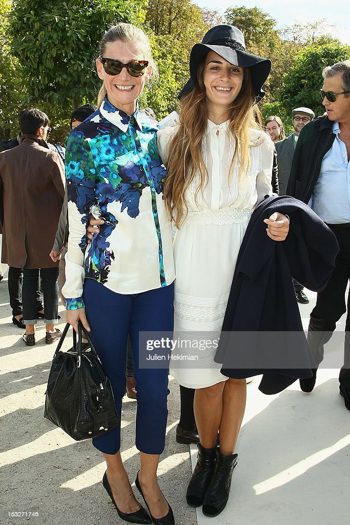 Elisabeth Von Guttman (L) and Alexia Niedzelski attend the Valentino Spring / Summer 2013 show as part of Paris Fashion Week at Espace Ephemere Tuileries on October 2, 2012 in Paris, France.