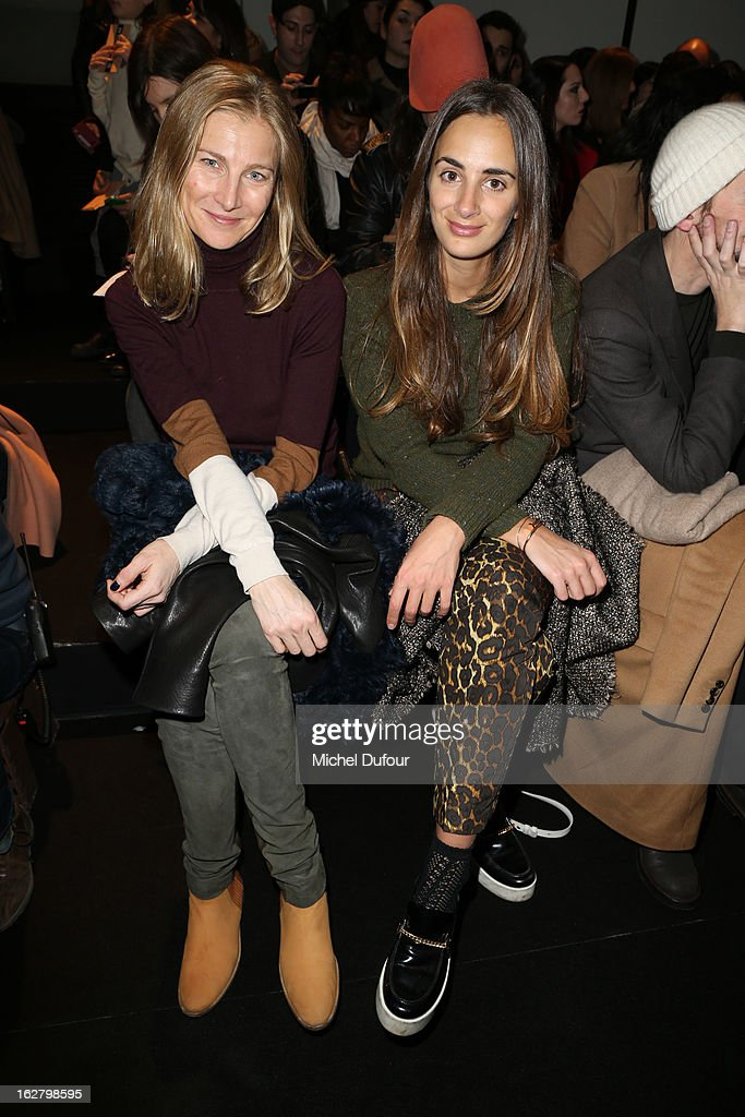 Elisabeth von Guttman and Alexia Niedzielski attend the Rochas Fall/Winter 2013 Ready-to-Wear show as part of Paris Fashion Week on February 27, 2013 in Paris, France.