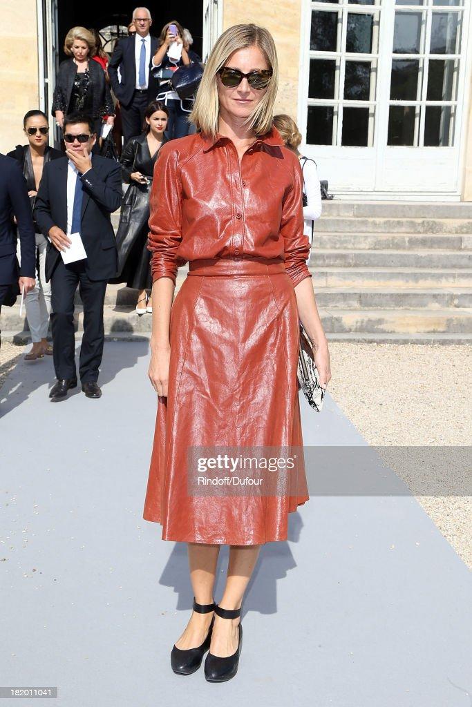 Elisabeth von Guttman arrives Christian Dior show as part of the Paris Fashion Week Womenswear Spring/Summer 2014 on September 27, 2013 in Paris, France.