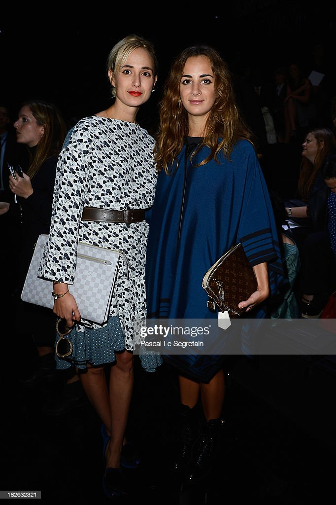 Elisabeth von Thurn und Taxis and Alexia Niedzielski attend the Louis Vuitton show as part of the Paris Fashion Week Womenswear Spring/Summer 2014 at Le Carre du Louvre on October 2, 2013 in Paris, France.