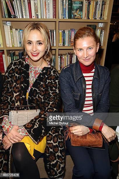 Elisabeth von Thurn und Taxis and Elisabeth von Guttman attend the Sonia Rykiel show as part of the Paris Fashion Week Womenswear Fall/Winter...