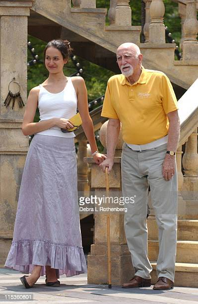 Elisabeth Waterston and Dominic Chianese during 2004 Shakespeare In Central Park Production Of 'Much Ado About Nothing' Rehearsal Scenes June 30 2004...