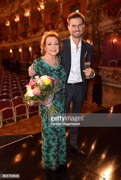 Elisabeth WickiEndriss and Simon Verhoeven attend the Bernhard Wicki Award 2017 during the Munich Film Festival 2017 at Cuvilles Theatre on June 29...