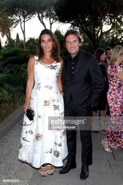 Elisabetta and Pietro Beccari attend McKim Medal Gala at Villa Aurelia on June 7 2017 in Rome Italy