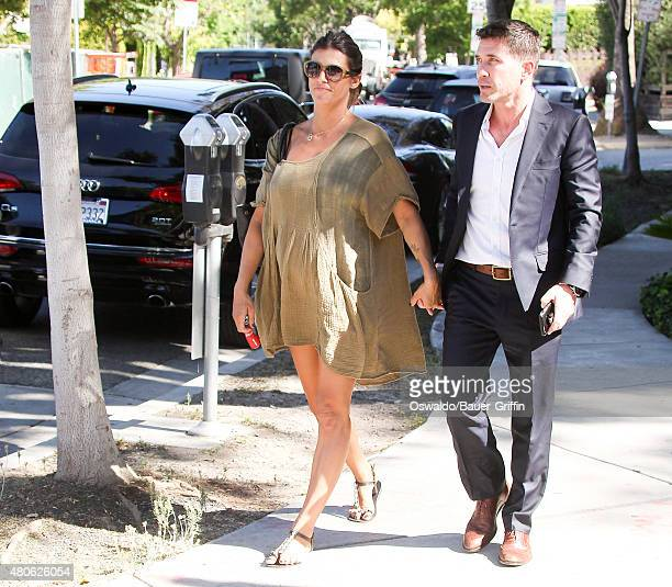 Elisabetta Canalis and Brian Perri are seen on July 13 2015 in Los Angeles California