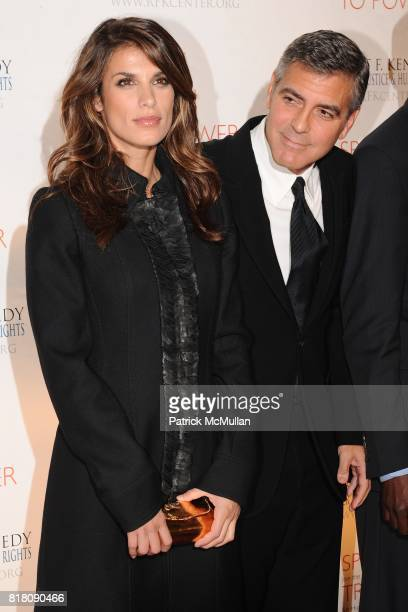Elisabetta Canalis and George Clooney attend 2010 Robert F Kennedy Center For Justice Human Rights Ripple Of Hope Awards Dinner at Pier 60 on...
