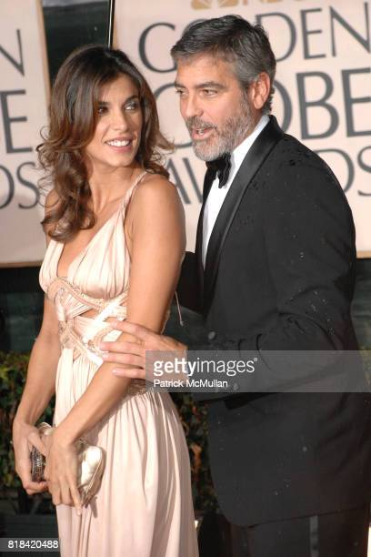 Elisabetta Canalis and George Clooney attend 67th Annual Golden Globe Awards at Beverly Hilton Hotel on January 17 2010 in Beverly Hills California