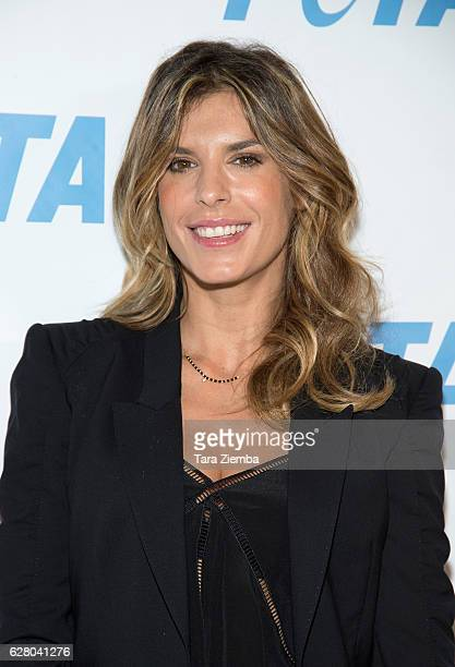 Elisabetta Canalis arrives for Jhene Aiko Unveils 'Rather Go Naked Than Wear Fur' Opening Night Of PETA's 'Naked Ambition' Exhibit at PETA Empathy...