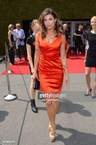 Elisabetta Canalis attend the Minx by Eva Lutz show during the MercedesBenz Fashion Week Spring/Summer 2015 at Erika Hess Eisstadion on July 9 2014...