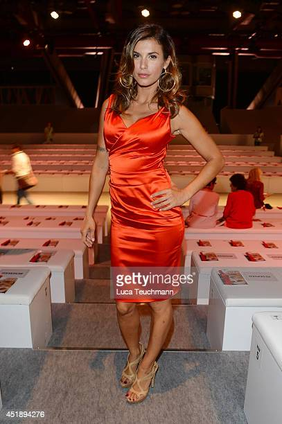 Elisabetta Canalis attend the Minx by Eva Lutz show during the MercedesBenz Fashion Week Spring/Summer 2015 at Erika Hess Eisstadion on July 9 2014...
