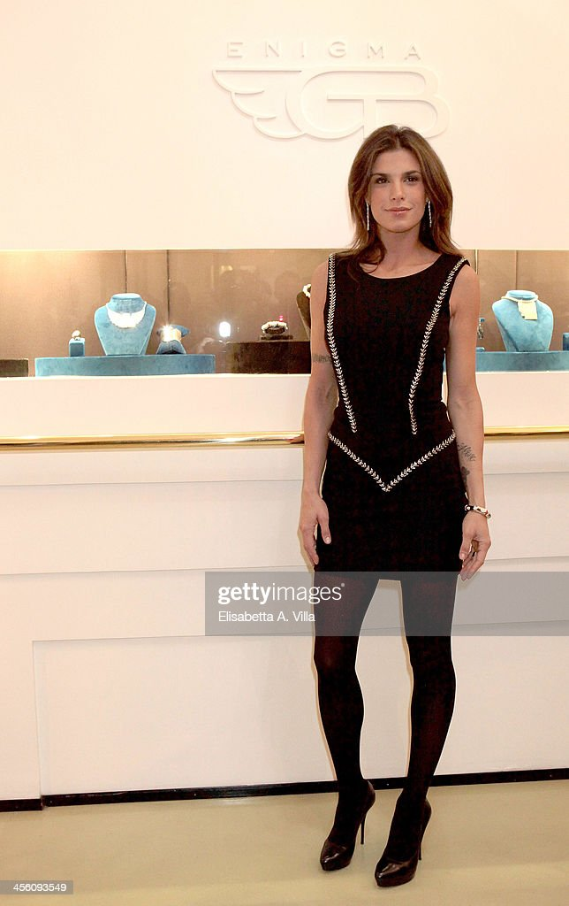 <a gi-track='captionPersonalityLinkClicked' href=/galleries/search?phrase=Elisabetta+Canalis&family=editorial&specificpeople=2292377 ng-click='$event.stopPropagation()'>Elisabetta Canalis</a> attends the 'Luce Preziosa' presentation at the GB ENIGMA by Gianni Bulgari boutique on December 13, 2013 in Rome, Italy. Luce Preziosa is an inspiring christmas jewellery and light TechoArt opera by the artist Geo Florenti.