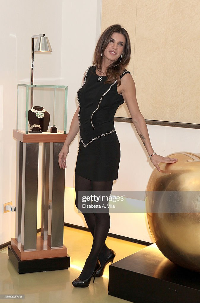 Elisabetta Canalis attends the 'Luce Preziosa' presentation at the GB ENIGMA by Gianni Bulgari boutique on December 13, 2013 in Rome, Italy. Luce Preziosa is an inspiring christmas jewellery and light TechoArt opera by the artist Geo Florenti.