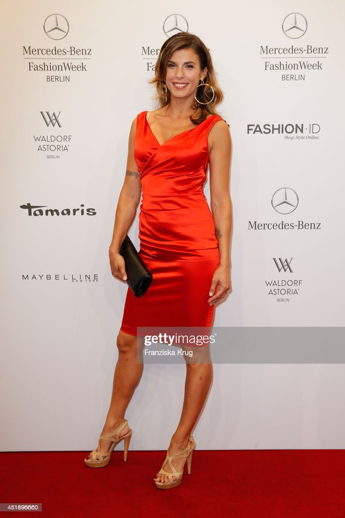 <a gi-track='captionPersonalityLinkClicked' href=/galleries/search?phrase=Elisabetta+Canalis&family=editorial&specificpeople=2292377 ng-click='$event.stopPropagation()'>Elisabetta Canalis</a> attends the Minx by Eva Lutz show during the Mercedes-Benz Fashion Week Spring/Summer 2015 at Erika Hess Eisstadion on July 9, 2014 in Berlin, Germany.