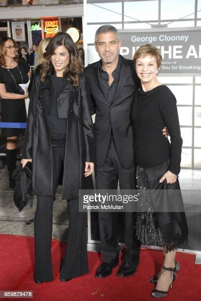 Elisabetta Canalis George Clooney and Nina Warren attend Los Angeles Premiere of 'Up In The Air' at Mann's Village Theater on November 30 2009 in Los...