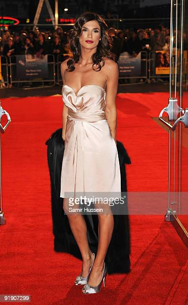 Elisabetta Canalis girlfriend of actor George Clooney arrives for the premiere of 'The Men Who Stare At Goats' during the Times BFI 53rd London Film...