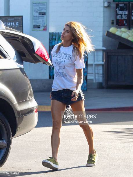 Elisabetta Canalis is seen on August 10 2017 in Los Angeles California