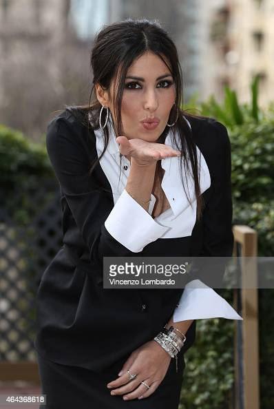 Elisabetta Gregoracci attends the 'Made In Sud' Photocall in Milan on February 25 2015 in Milan Italy