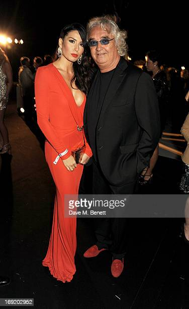 Elisabetta Gregoraci and Flavio Briatore attend a cocktail reception at the de Grisogono Party during the 66th International Cannes Film Festival at...