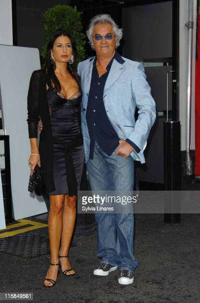 Elisabetta Gregoraci and Flavio Briatore attend the 2007 Great Ormond Street Hospital British Grand Prix Party held at the Worx on July 4 2007 in...