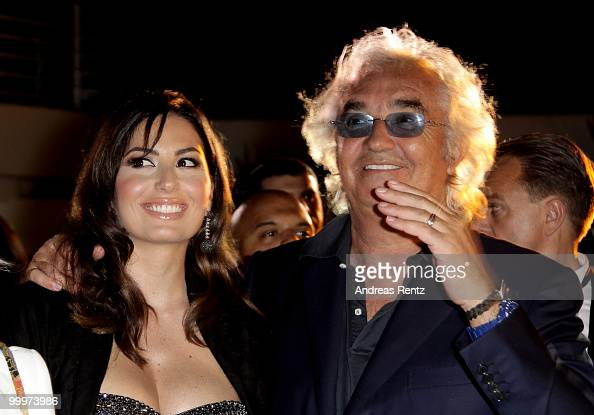 Elisabetta Gregoraci and Flavio Briatore attend the de Grisogono cocktail party at the Hotel Du Cap on May 18 2010 in Cap D'Antibes France
